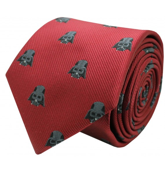 Red Darth Vader Star Wars silk tie