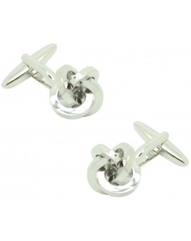 polished silver knot ICON shirt cufflinks