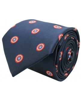 Captain America necktie navy blue
