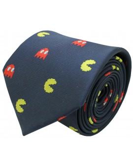 Corbata de COMECOCOS seda azul marino