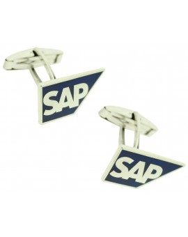 Customized shirt cufflinks SAP logo software