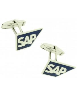 Gemelos para camisa personalizados logotipo SAP software Plata 925 PREMIUM