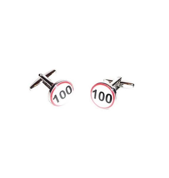Speed Limit Signal Cufflinks