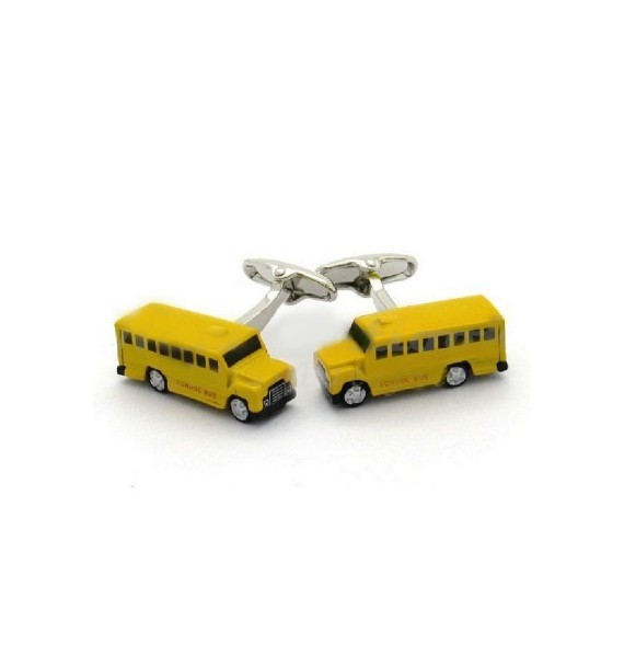 School Bus Cufflinks