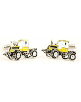 Yellow Tractor Cufflinks