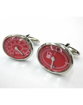 Gemelos Marcador de Velocidad y Gasolina Rojo