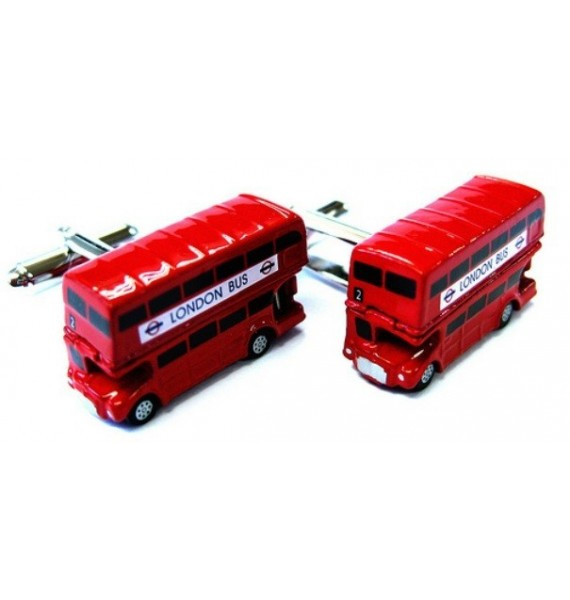 London Open Top Bus Cufflinks