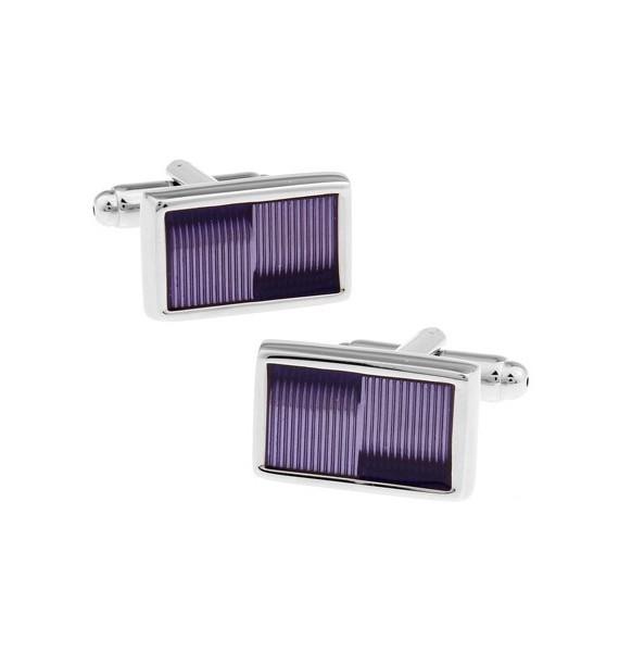 Lavender Striped Cufflinks