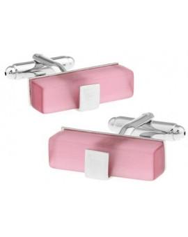Pink Catseye Ingot Cufflinks