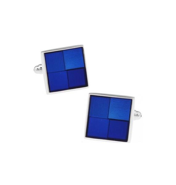 Blue Checker Cufflinks