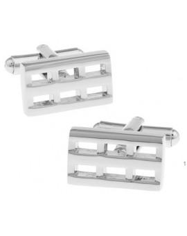 Silver Brick Cufflinks