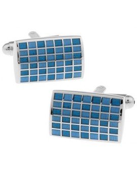 Blue Checkerboard Cufflinks