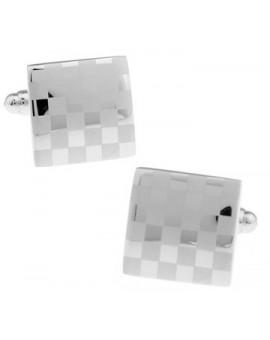 Silver Chessboard Cufflinks