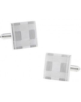Silver Criss-Cross Cufflinks