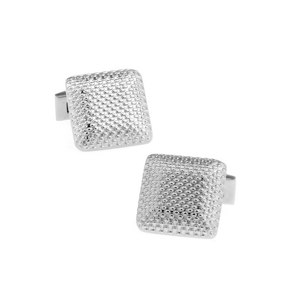 Silver Square Outline Cufflinks
