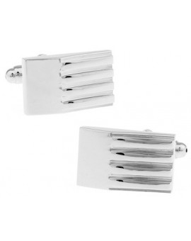 Ribbed Wedge Cufflinks