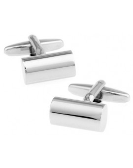 Silver Cylinder Cufflinks