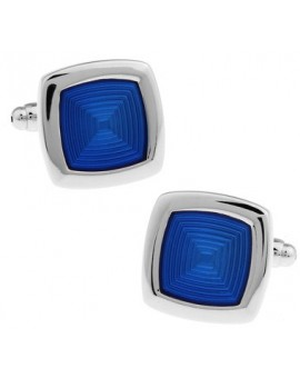 Blue Rounded Edge Square Cufflinks