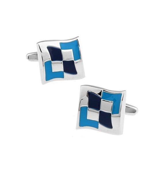 Blue Squares Cufflinks