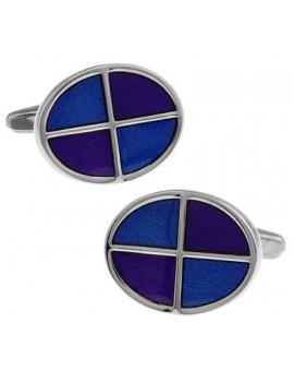 Gemelos Oval Azul y Morado