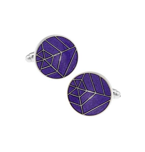 Purple Spider Web Cufflinks
