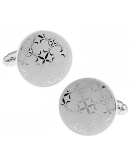 Silver Lattice Cufflinks