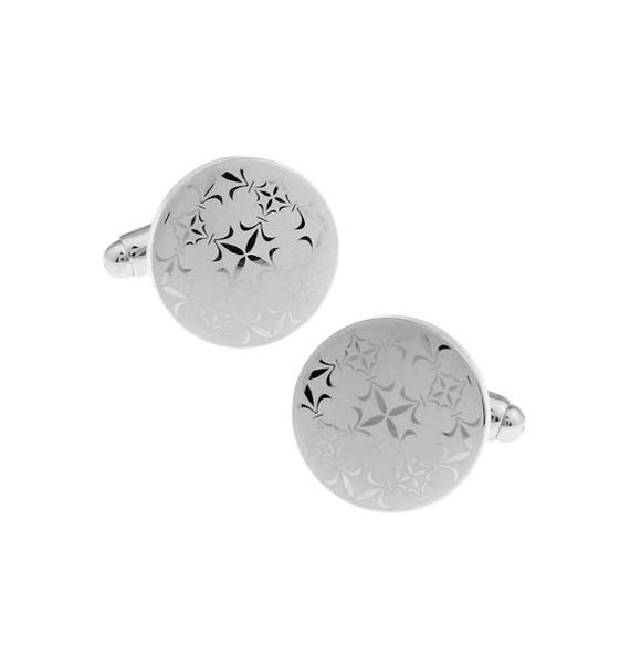 Silver Lattice Cufflinks