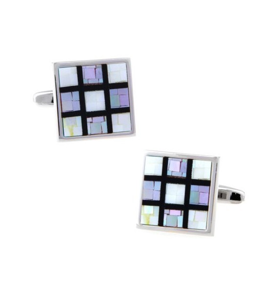 Lavender Onyx Checker Cufflinks