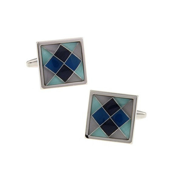 Multicolored Onyx Checker Cufflinks