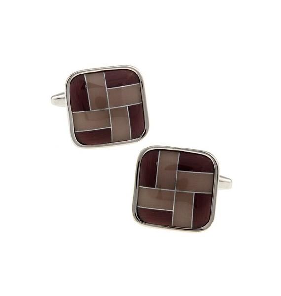 Brown Onyx Windmill Square Cufflinks