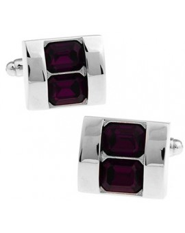 Purple Crystals Cufflinks