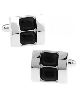 Black Crystals Cufflinks
