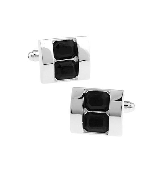 Black Crystals Cufflinks