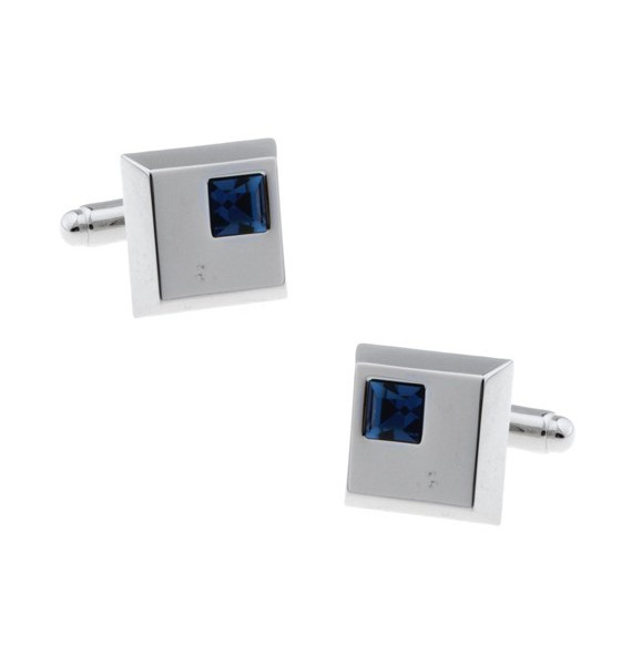 Navy Crystal Cufflinks