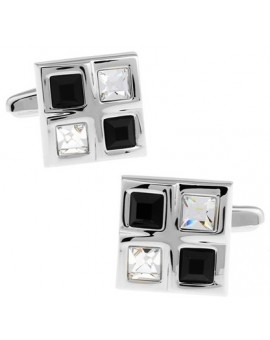 Black and White Checkered Cufflinks