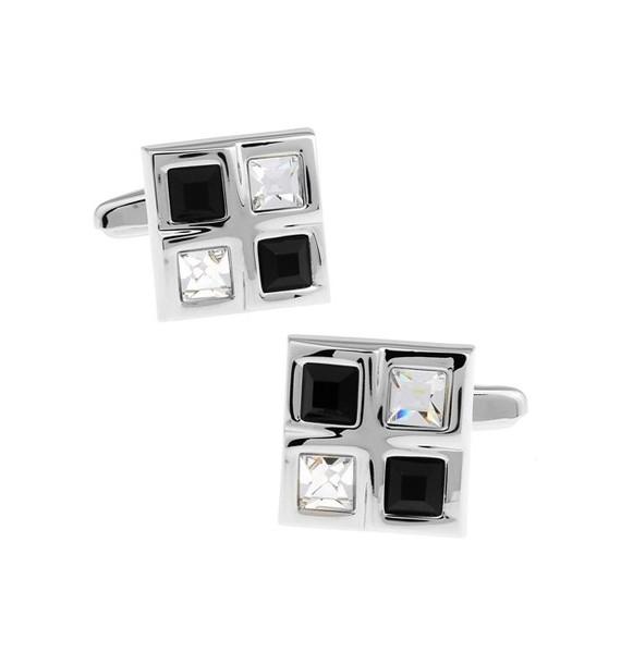 Black and White Checkered Cufflinks