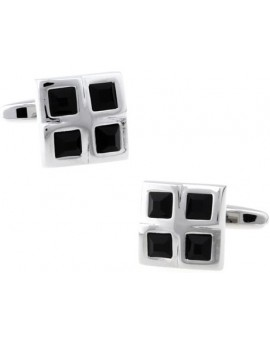 Black Checkered Cufflinks