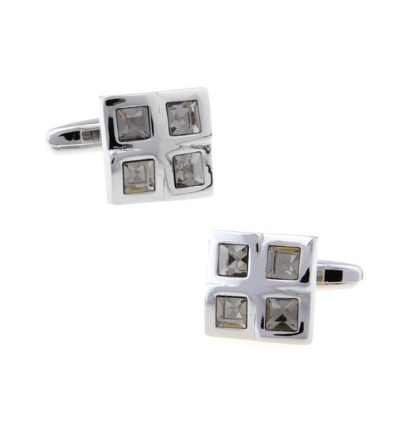 Grey Checkered Cufflinks