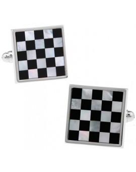 Onyx Chessboard Cufflinks