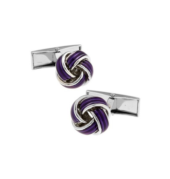 Purple Knot Cufflinks