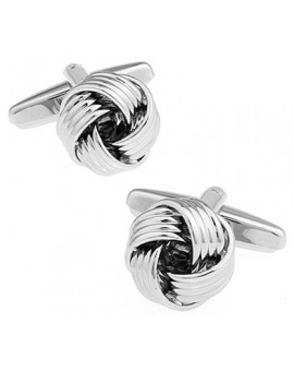 Ribbed Rail Knot Cufflinks