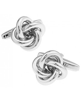 Silver Plated Double Knot Cufflinks