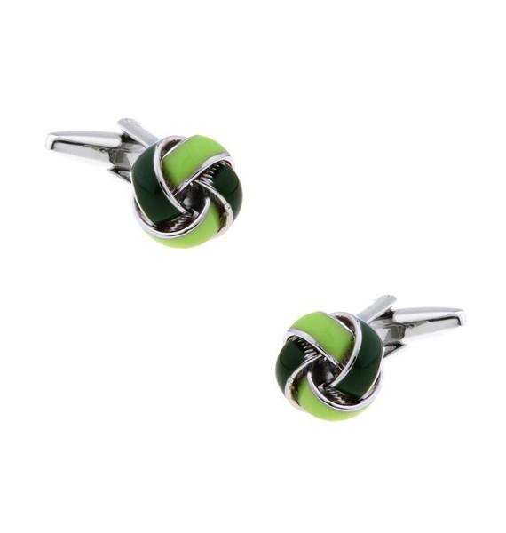 Green and Dark Green Knot Cufflinks