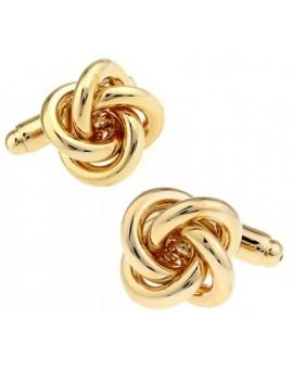 Golden Knot Cufflinks