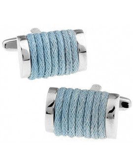 Light Blue Rope Cufflinks