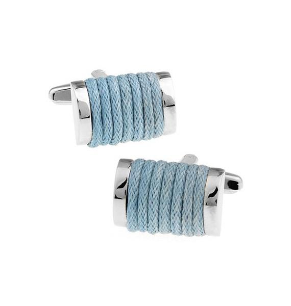 Light Blue Rope Cufflinks