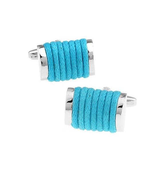 Gemelos Cuerda Azul Turquesa
