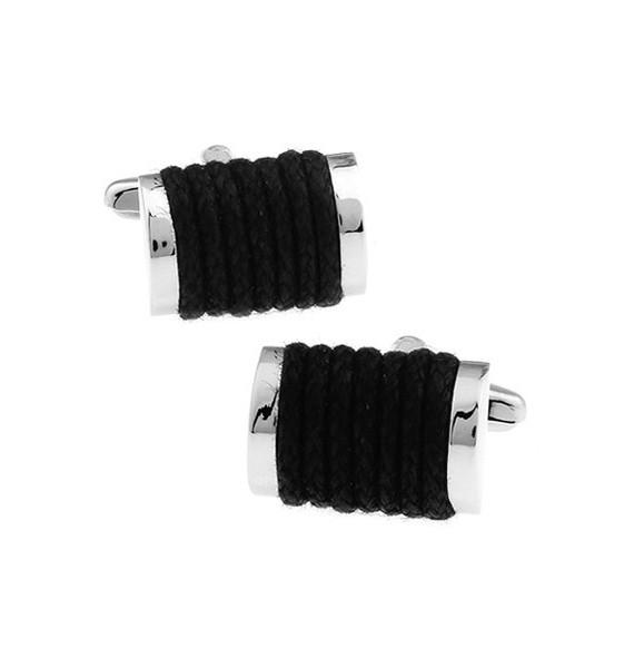 Black Rope Cufflinks