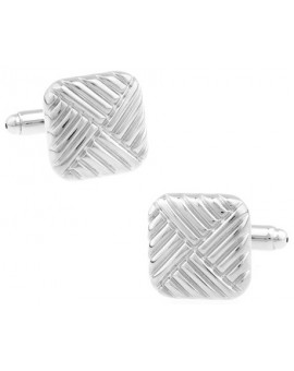 Ribbed Square Cufflinks