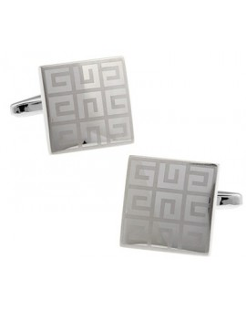 Silver Diamond Maze Cufflinks